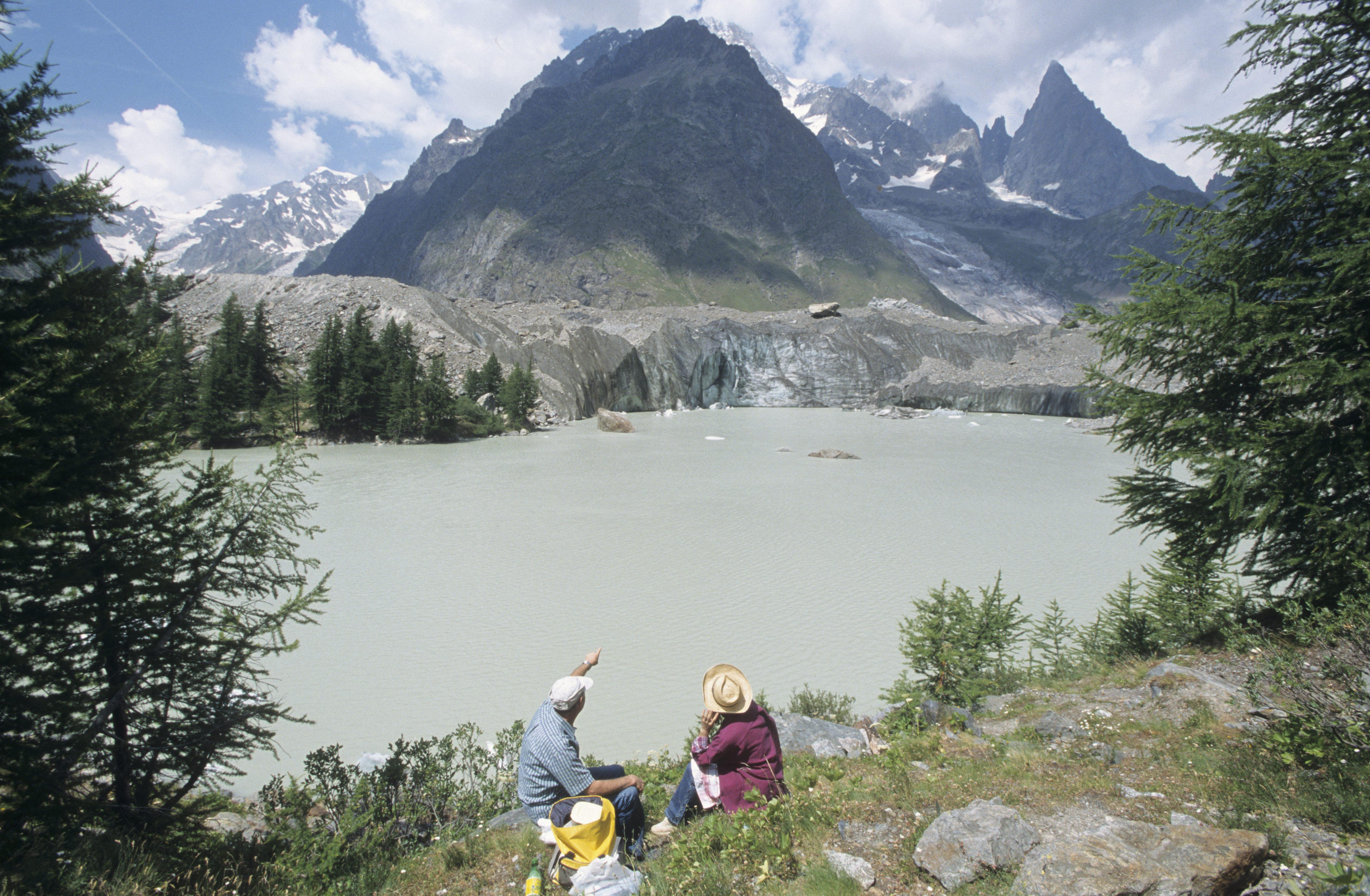 ITALIE  -  Val d'AosteVal Veny Lac glaciaire du Miage