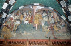 ITALIE - Val d'Aoste Fresque du portique du château d'Issogne