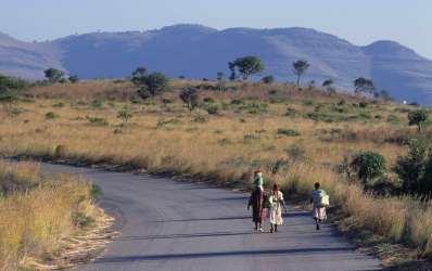 AFRIQUE du SUD Mpumalanga Vers le site des Rondavels