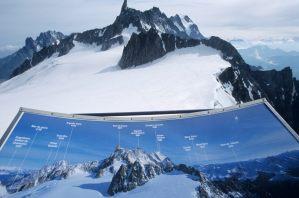 ITALIE - Val d'Aoste Panorama à la Pointe Helbronner (3459 m)