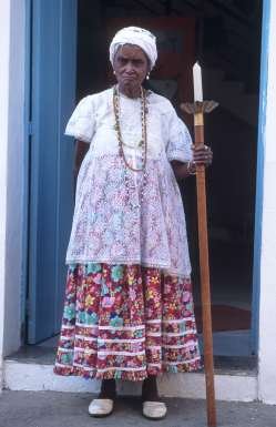 BRESIL - Salvador Da Bahia Lindaura, une prêtresse vaudou