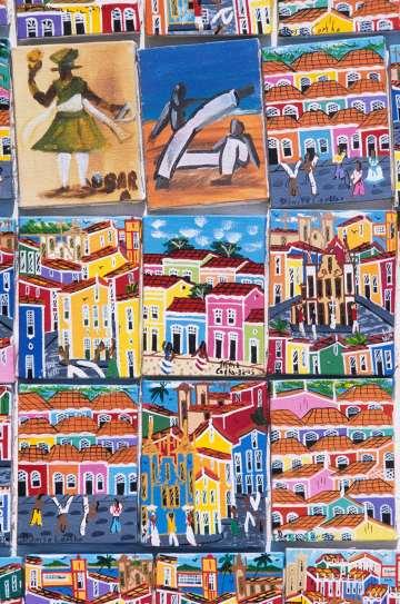 BRESIL - Salvador Da Bahia Peintures dans le Pelourinho