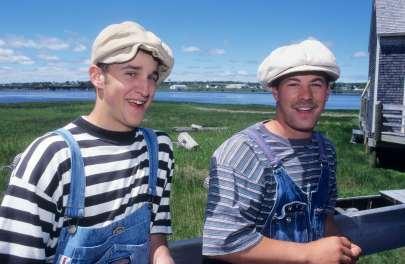 CANADA Nouveau-Brunswick Acteurs au Pays de la Sagouine, à Bouctouche
