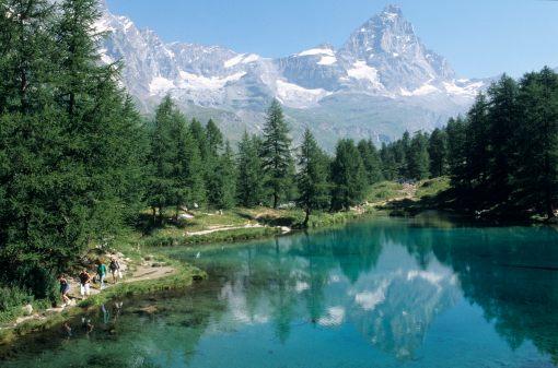 ITALIE - Val d'Aoste Valtournenche Lac Bleu