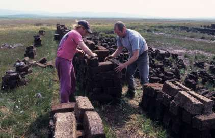 ECOSSE - Islay Récolte de la tourbe