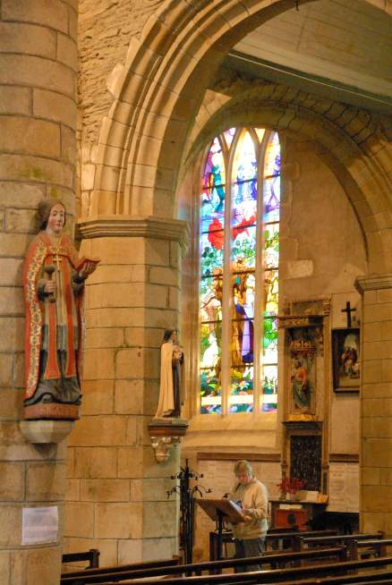 MORBIHAN Rochefort-en-Terre Dans l'église Notre-Dame-de-la-Tronchaye