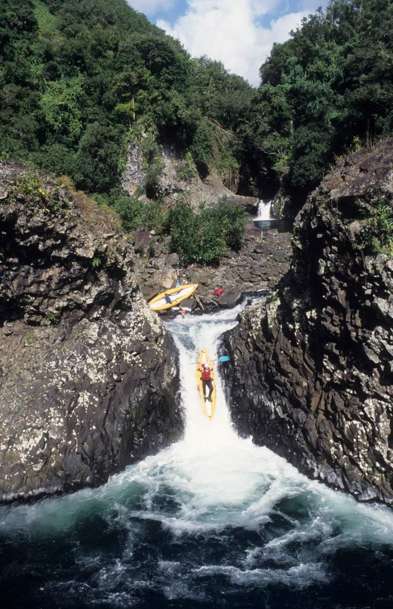 LA REUNION Kayak à la Rivière des Roches