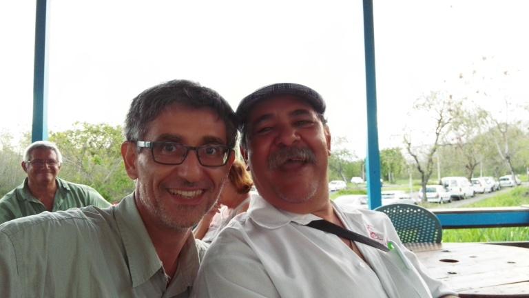 Selfie avec Gilbert Robert, sympathique patron de l'Auberge du Piton Fougère