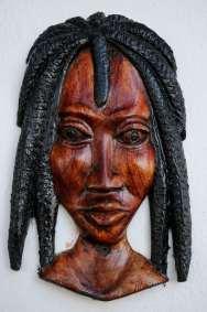 JAMAÏQUE Sculpture d'un rasta