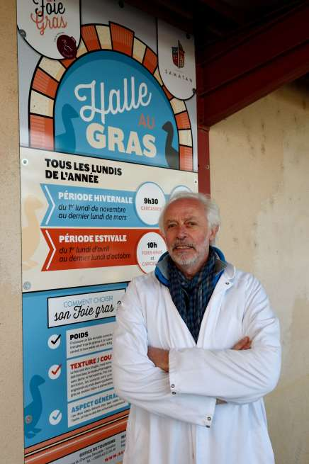 Gers - Samatan Marché au canard gras Didier Villatte, vétérinaire