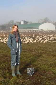 Gers Canard gras du Sud-Ouest Chez Céline Touja, à Lartigue, éleveuse de canards gras Effaroucheur de buse