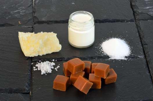 BRETAGNE - Côte d'Armor A l'Ambr'1, à Minihy-Tréguier Les ingrédients du caramel au beurre salé