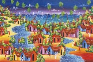 LA REPUBLIQUE DOMINICAINE Tableau vendu à Saona