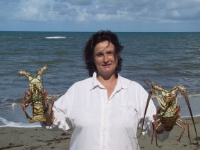 LA REPUBLIQUE DOMINICAINE Péninsule de Samana Florence, du Papagallo Beach Club, avec des langoustes