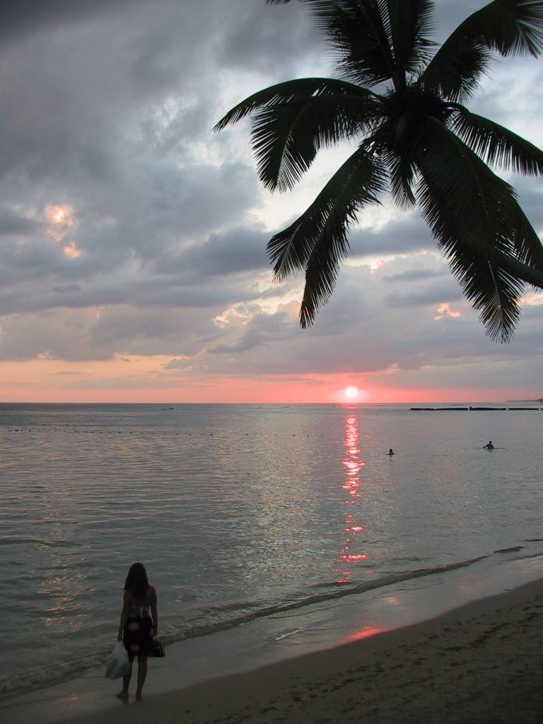 LA REPUBLIQUE DOMINICAINE Coucher de soleil vers Juan Dolio