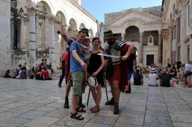 CROATIE - Split Sur le péristyle du palais de Dioclétien