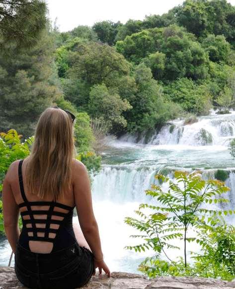 CROATIE - Parc national de Krka Chute de reins et cascade de cheveux à Stradinski Buk