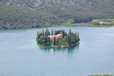 CROATIE - Parc national de Krka Île du monastère de Visevac