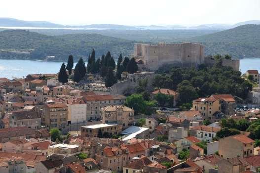 CROATIE - Sibenik Vue depuis la forteresse Barone