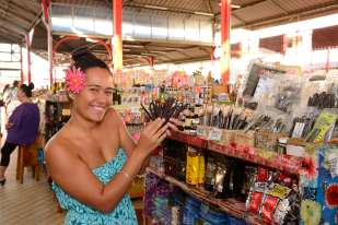 Polynésie Française Tahiti Au marché municipal de Papeete