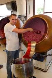Roanne Chez François Pralus Vivien enrobe les amandes de sucre coloré