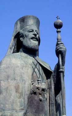 CHYPRE - Nicosie Statue de Makarios III