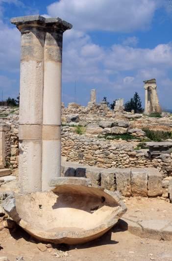 CHYPRE - Limassol Sanctuaire d'Apollon Ylatis