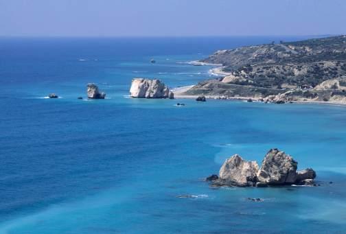 CHYPRE - Pafos Plage du rocher d'Aphrodite