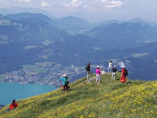 AUTRICHE - Salzkammergut St-Wolfgang Vue depuis le sommet du Schafberg (1782 m) sur le Wolfgangsee