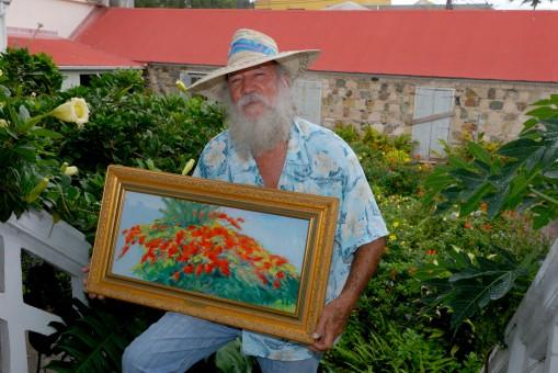 SAINT-MARTIN Philipsburg Roland Richardson, artiste peintre