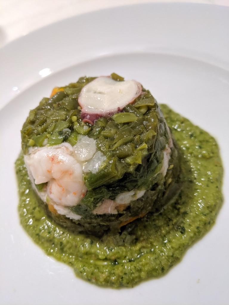"""ITALIE - Gênes Cappon magro, au restaurant """"A Veliero"""", via Ponte Calvi 10"""